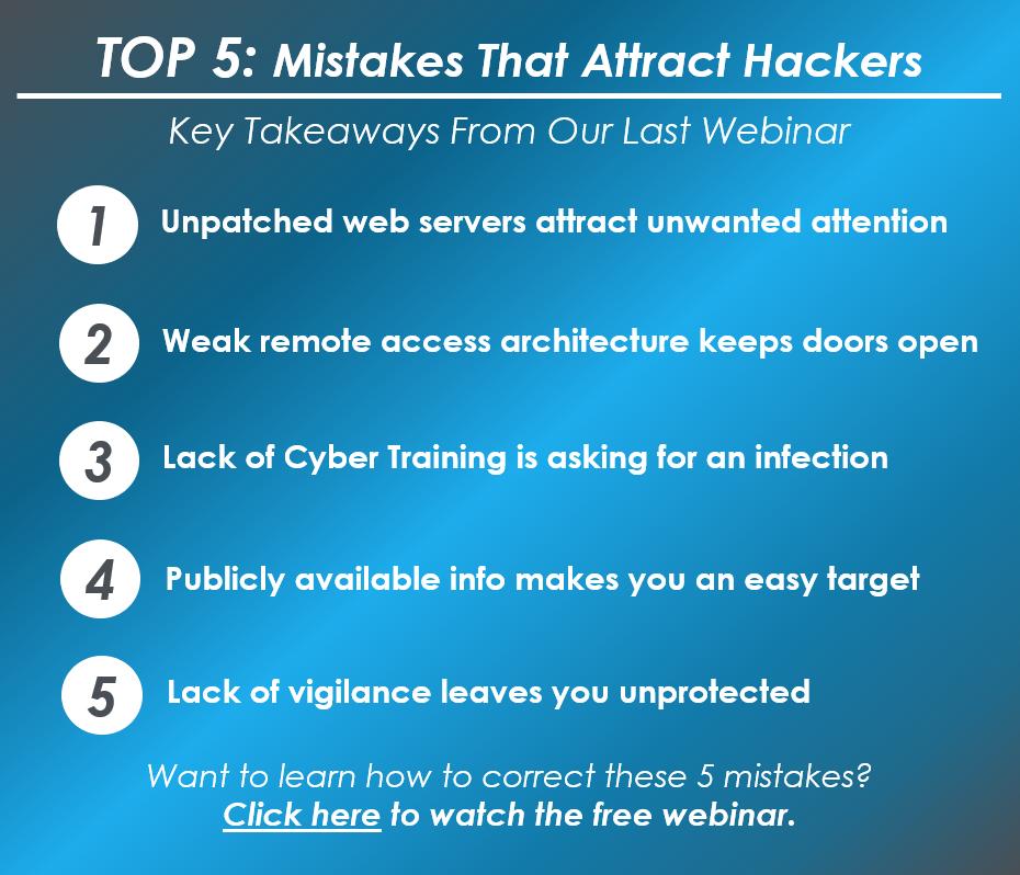 5 Mistakes - Feb 2020