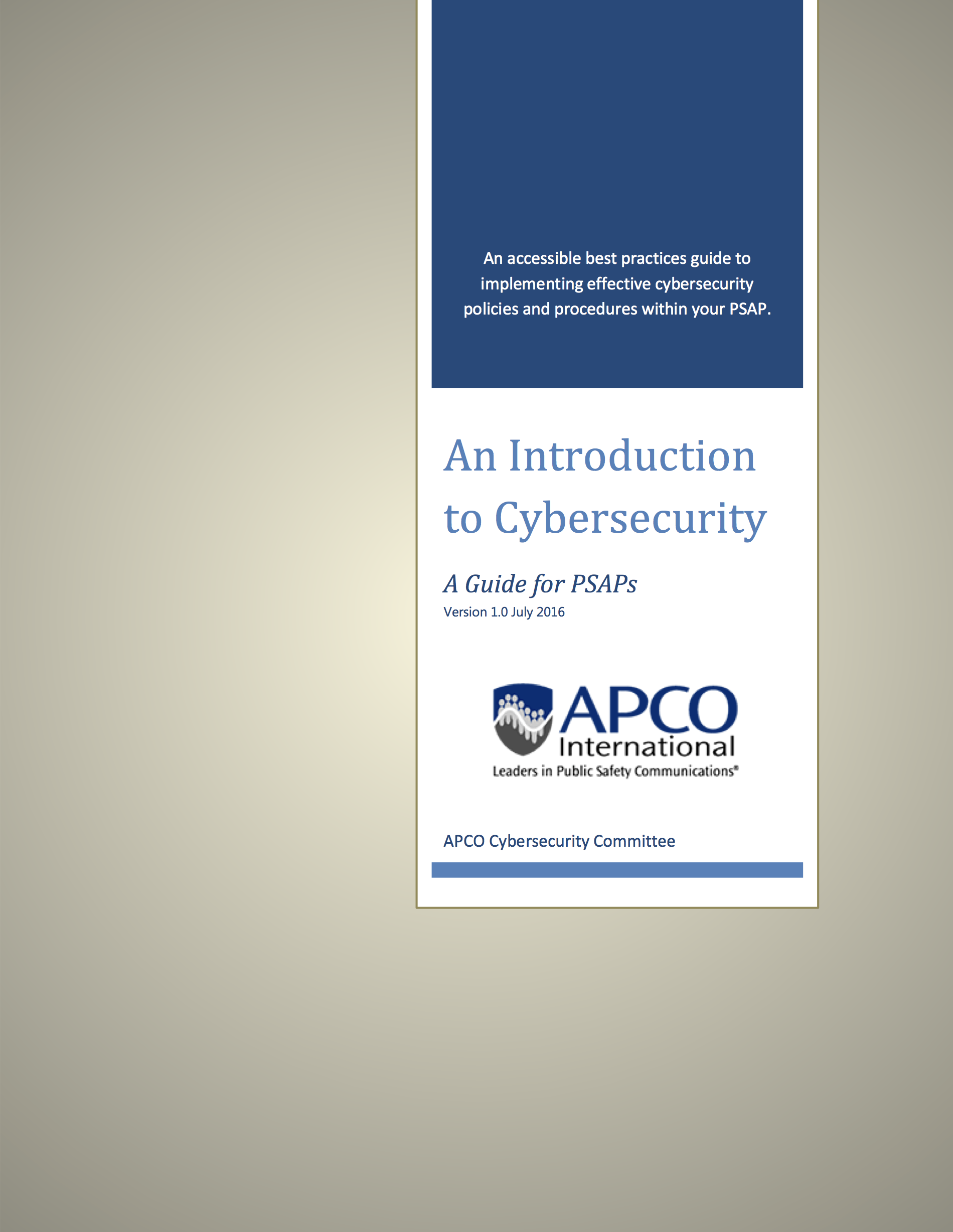APCO: An Introduction to Cybersecurity