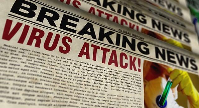 Newspaper with headline,