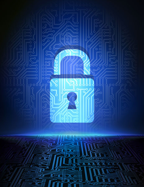 Cyber-defense-padlock