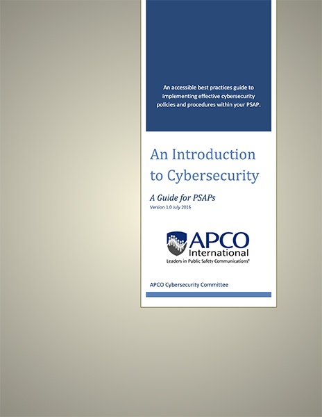 Cybersecurity Introduction for PSAPS, APCO